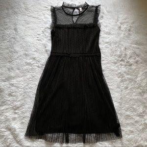 Xhilaration Black Sheer Lace Dress